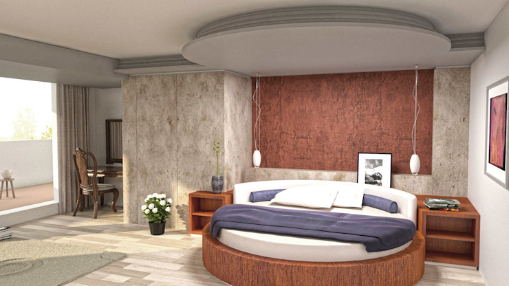 Modern style bedroom by eNArch.info Modern