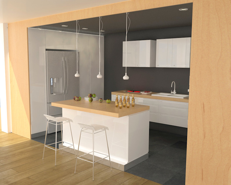 Apartment in Sliven Modern kitchen by eNArch.info Modern