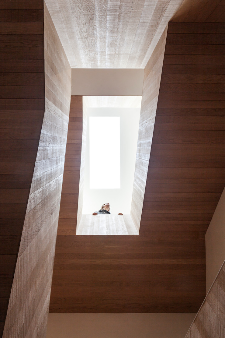 Stadsvilla Kralingen Moderne gangen, hallen & trappenhuizen van Architectenbureau Paul de Ruiter Modern