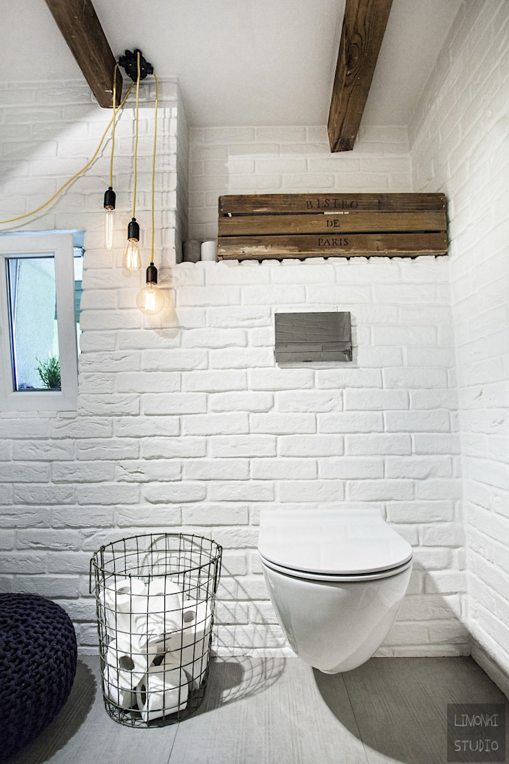 Scandinavian style bathroom by Limonki Studio Wojciech Siudowski Scandinavian
