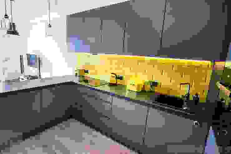 Mieszkanie z trzema kotami Nowoczesna kuchnia od Limonki Studio Wojciech Siudowski Nowoczesny