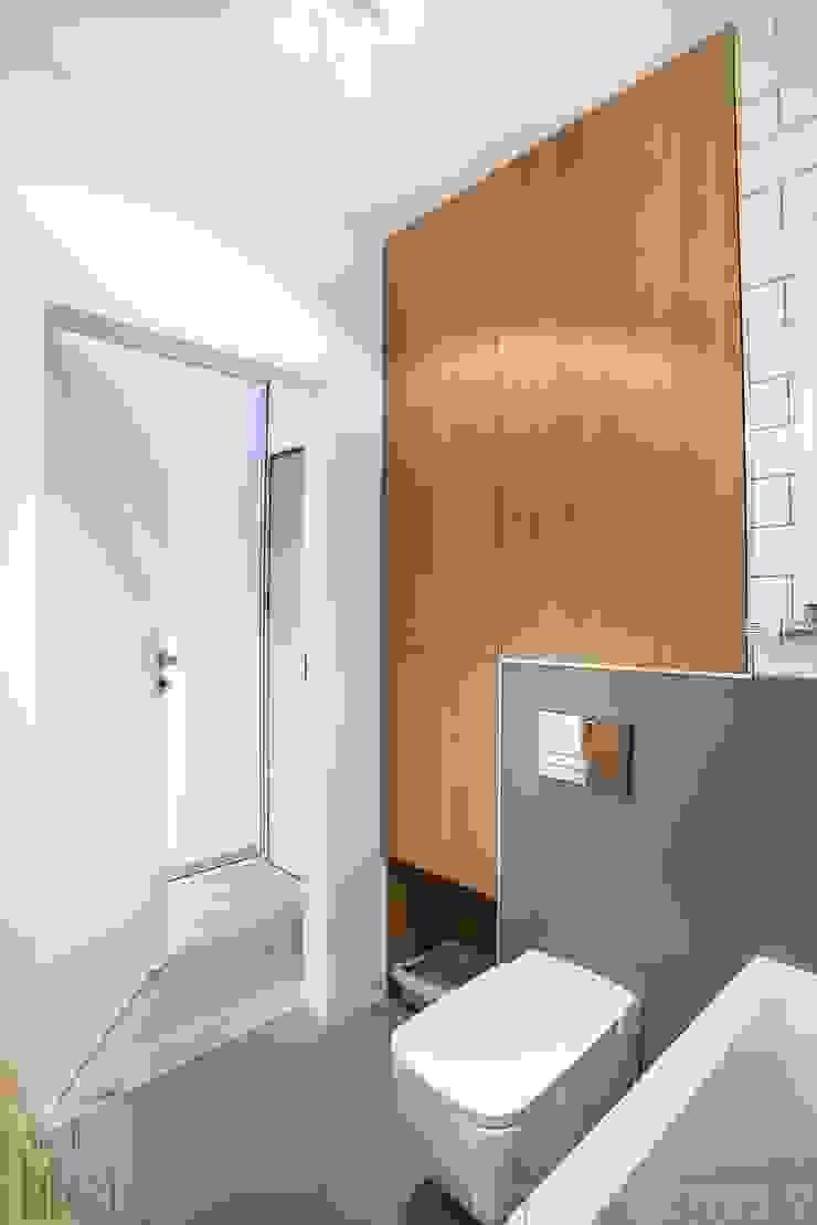 Mieszkanie z trzema kotami Nowoczesna łazienka od Limonki Studio Wojciech Siudowski Nowoczesny