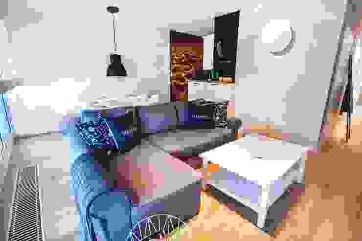 Salas de estilo escandinavo de Limonki Studio Wojciech Siudowski Escandinavo