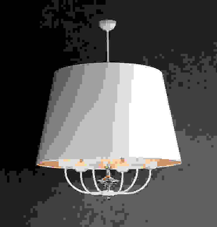 Narni White Single Pendant Ceiling Lighting 6 Lights Baños de estilo moderno de Luxury Chandelier Moderno Cobre/Bronce/Latón