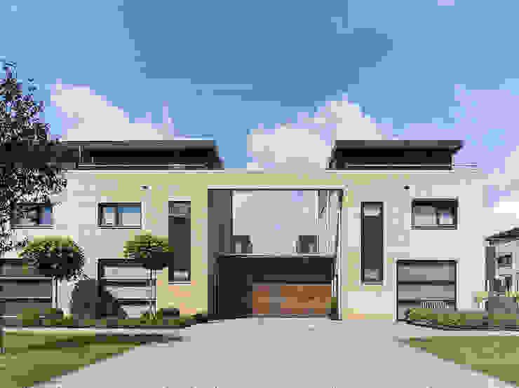twee onder een kap woningen Moderne huizen van G.L.M. van Soest Architect Modern