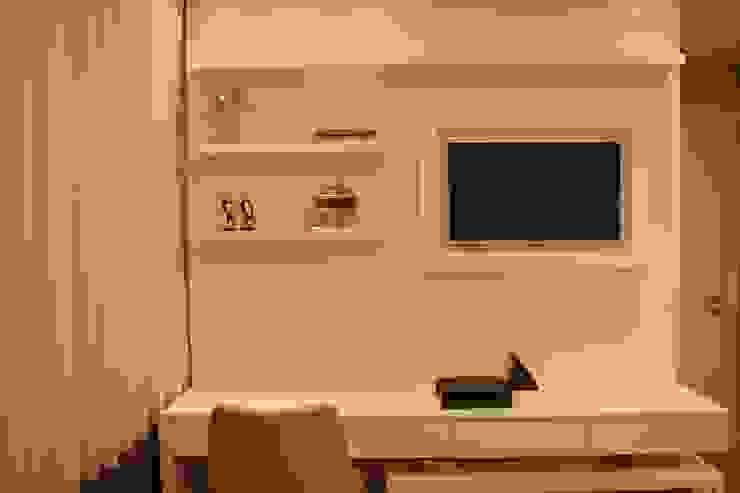 Quarto de Casal Contemporâneo DecaZa Design Modern Bedroom MDF White