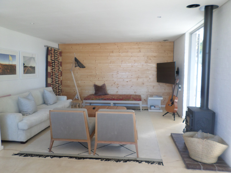 Claire Cartner Interior Design ห้องมัลติมีเดียเฟอร์นิเจอร์ ลินิน Grey