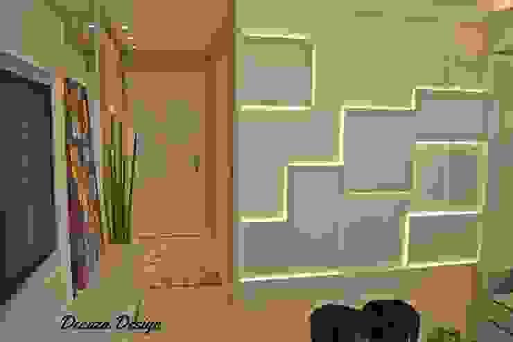 Sala Estar e Jantar em Destaque Modern living room by DecaZa Design Modern