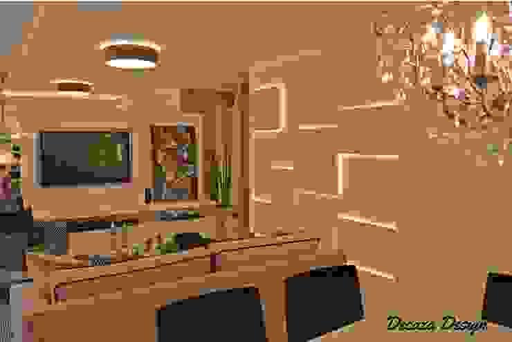 Sala Estar e Jantar em Destaque DecaZa Design Modern Living Room