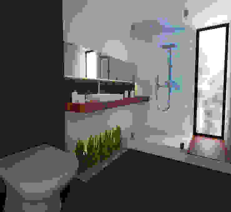 6. CASA JALISCO Baños modernos de TARE arquitectos Moderno