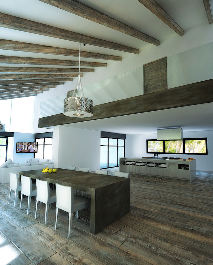 6. CASA JALISCO Cocinas modernas de TARE arquitectos Moderno