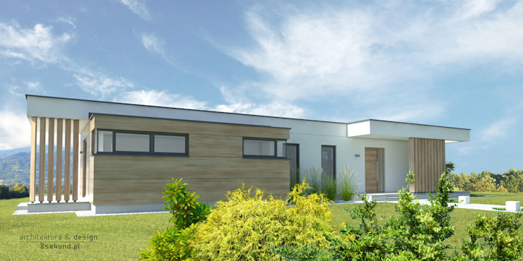 Modern home by Pracownia Projektowa 8 Sekund Damian Wołoszyn Modern