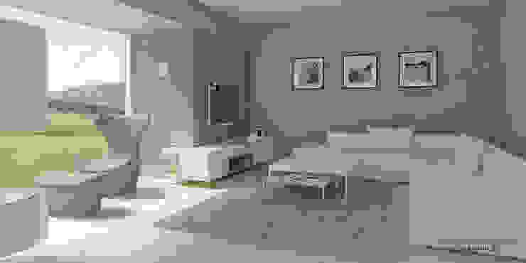 Modern Living Room by Pracownia Projektowa 8 Sekund Damian Wołoszyn Modern
