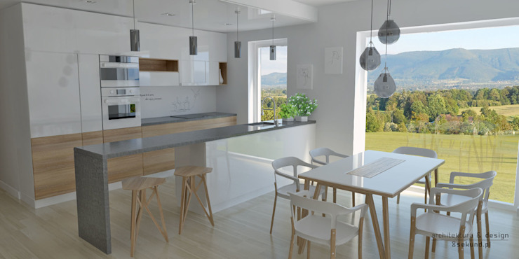 Modern Kitchen by Pracownia Projektowa 8 Sekund Damian Wołoszyn Modern