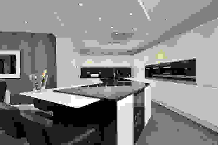 Mr & Mrs Davidson's Monochrome Kitchen Room Modern Kitchen Glass Black
