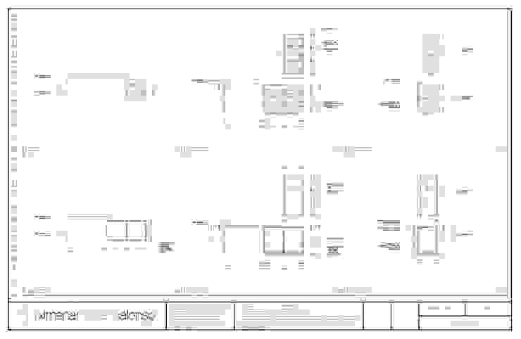 Plano de producción de xma studio Moderno Madera Acabado en madera