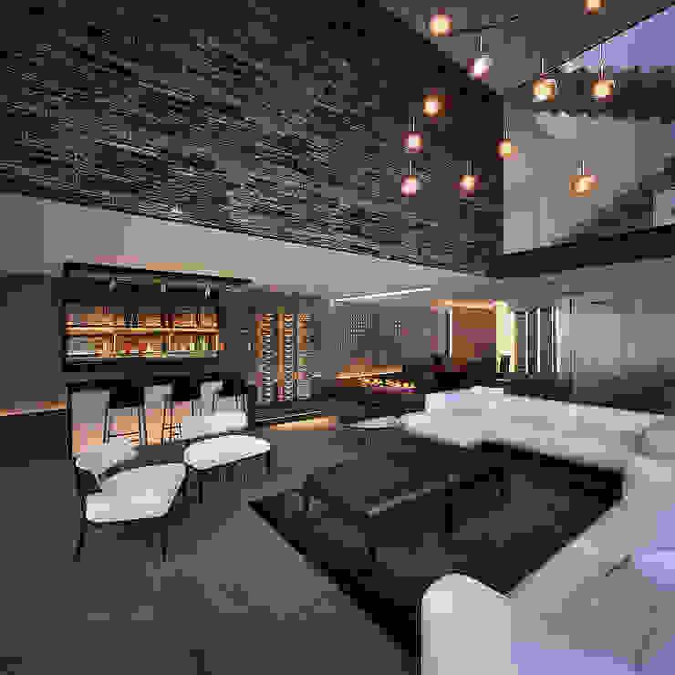 10.- BOSQUE REAL Moderne Wohnzimmer von TARE arquitectos Modern