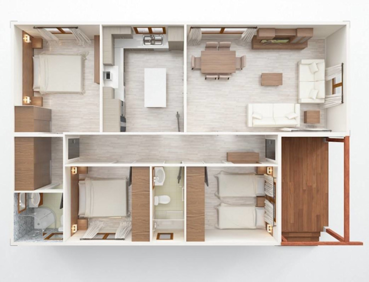 Casas modulares por Iccon Moderno