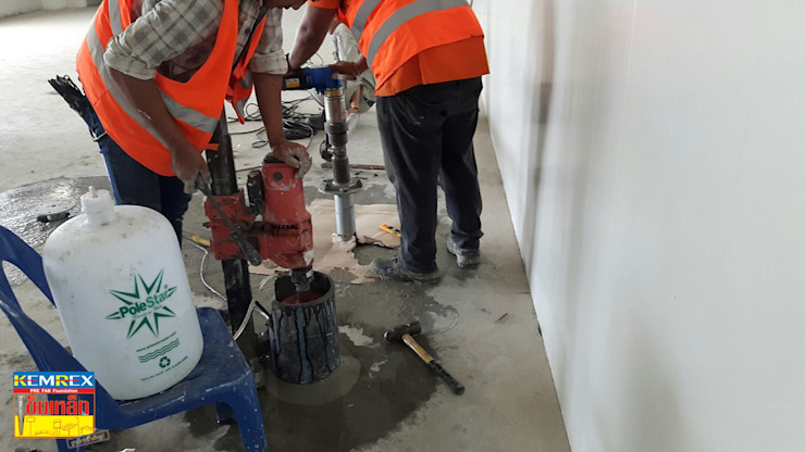 งานฐานรากถังเก็บน้ำแข็ง โรงงานน้ำแข็งจอมทอง โดย บริษัทเข็มเหล็ก จำกัด