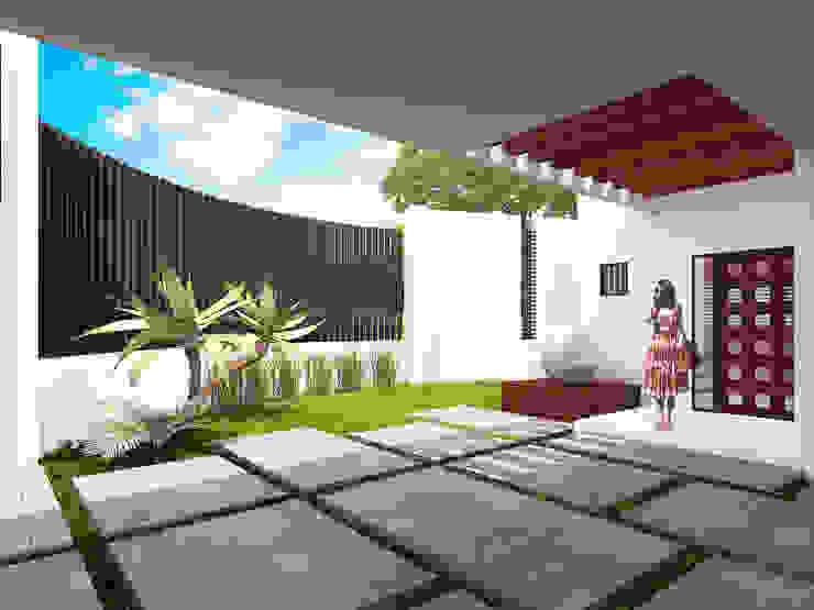Acceso principal Casas modernas de Proyecta Taller de Arquitectura Moderno