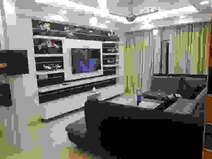 Jain's residency: modern  by Fabros Interiors,Modern
