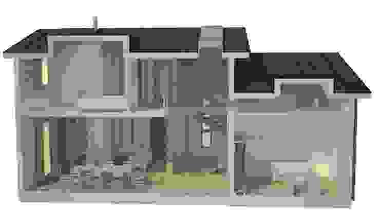 Дом в уровнях от Snegiri Architects Скандинавский