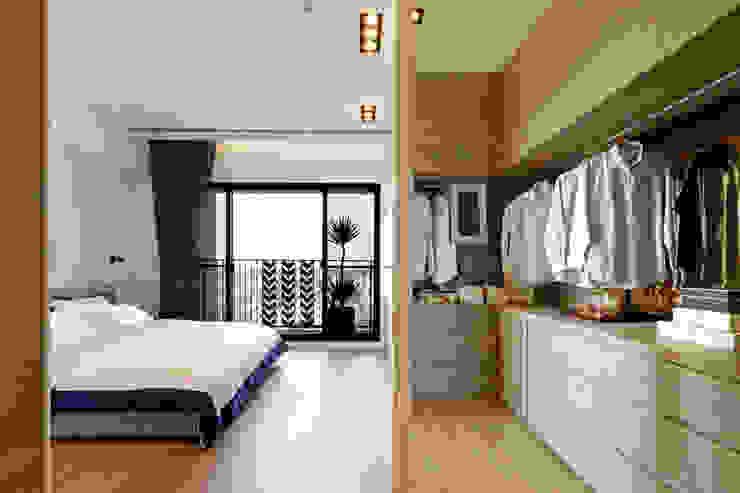 Chambre moderne par 沐設計 Moderne
