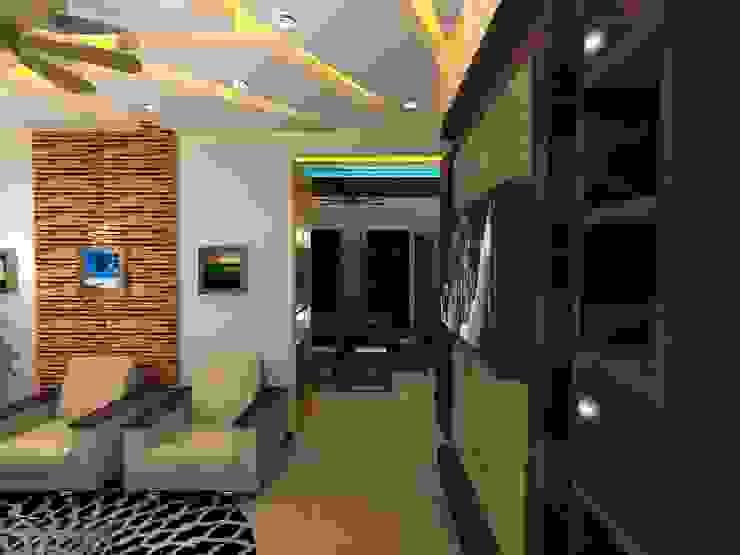 Deb Villa Modern living room by Gurooji Designs Modern
