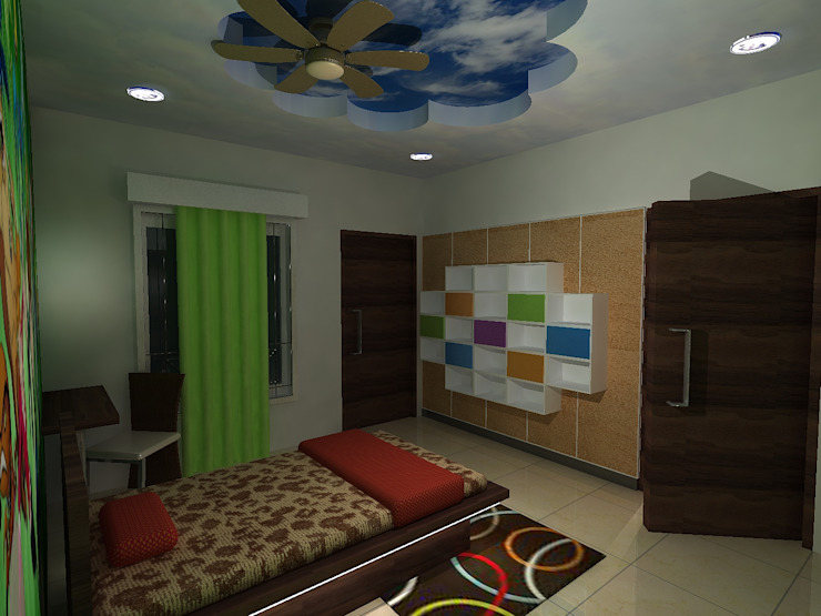 Deb Villa Modern style bedroom by Gurooji Designs Modern