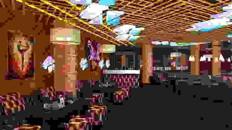 EDGE Night Club Modern bars & clubs by Gurooji Designs Modern