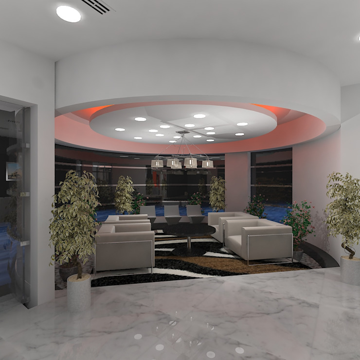 Reception Waiting Modern office buildings by Gurooji Designs Modern