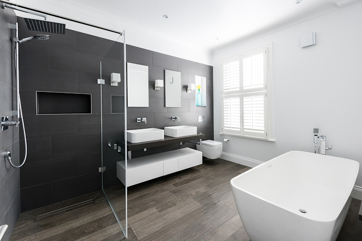 Disraeli Road, Putney Minimalist style bathrooms by Grand Design London Ltd Minimalist