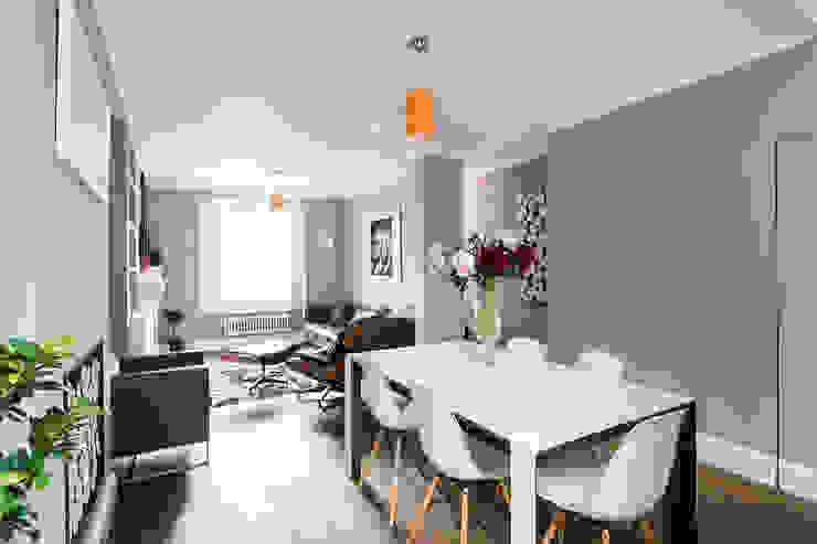 غرفة السفرة تنفيذ Grand Design London Ltd, ريفي