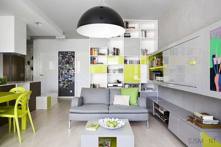 Modern living room by Ejsmont - pracowania architektoniczna Modern