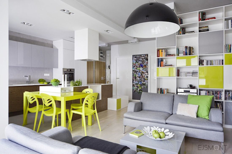 Modern dining room by Ejsmont - pracowania architektoniczna Modern