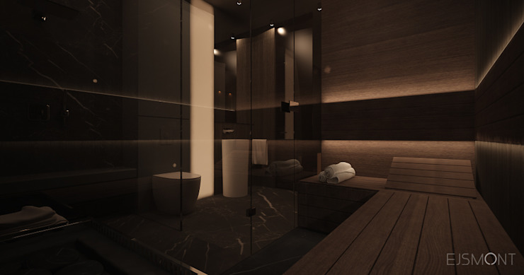 Modern style bathrooms by Ejsmont - pracowania architektoniczna Modern