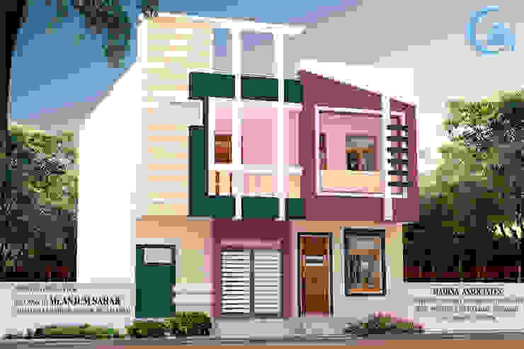 EXTERIOR VIEWS Modern houses by MADINA ASSOCIATES Modern Bricks