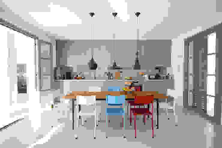 Mediterranean style dining room by jle architekten Mediterranean