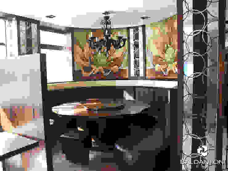 Restaurant Cafè Aviomotornaya, Mosca, Russia Pareti & Pavimenti in stile moderno di Baldantoni Group Moderno Legno Effetto legno