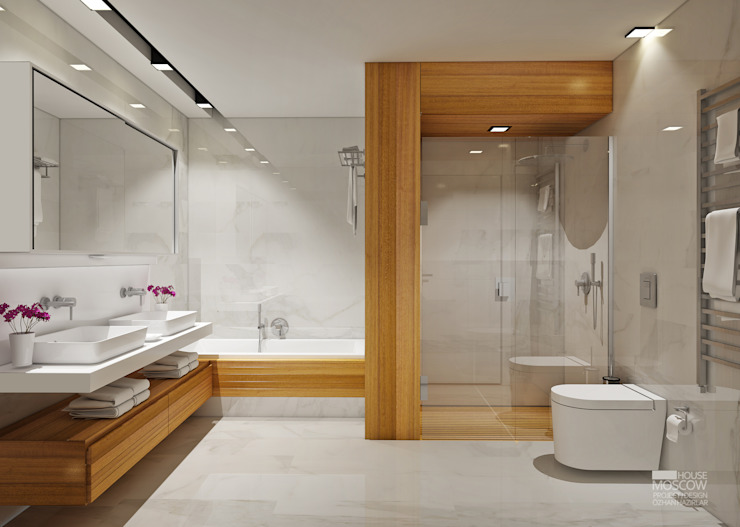 Minimalist style bathrooms by homify Minimalist
