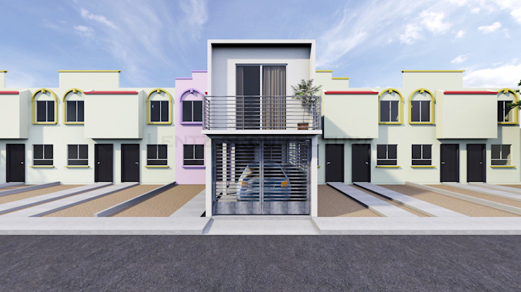 Propuesta Fachada Principal Casas modernas de Lentz Arquitectura Diseño y Construcción Moderno Concreto reforzado
