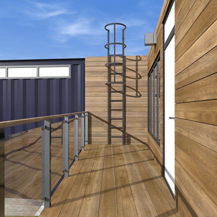 Nhà phong cách tối giản bởi CHM architect Tối giản