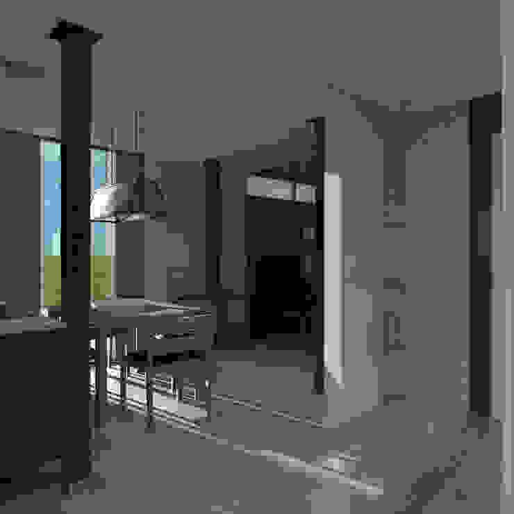 Phòng ăn phong cách tối giản bởi CHM architect Tối giản