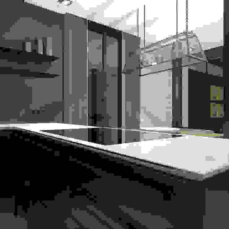 Nhà bếp phong cách tối giản bởi CHM architect Tối giản