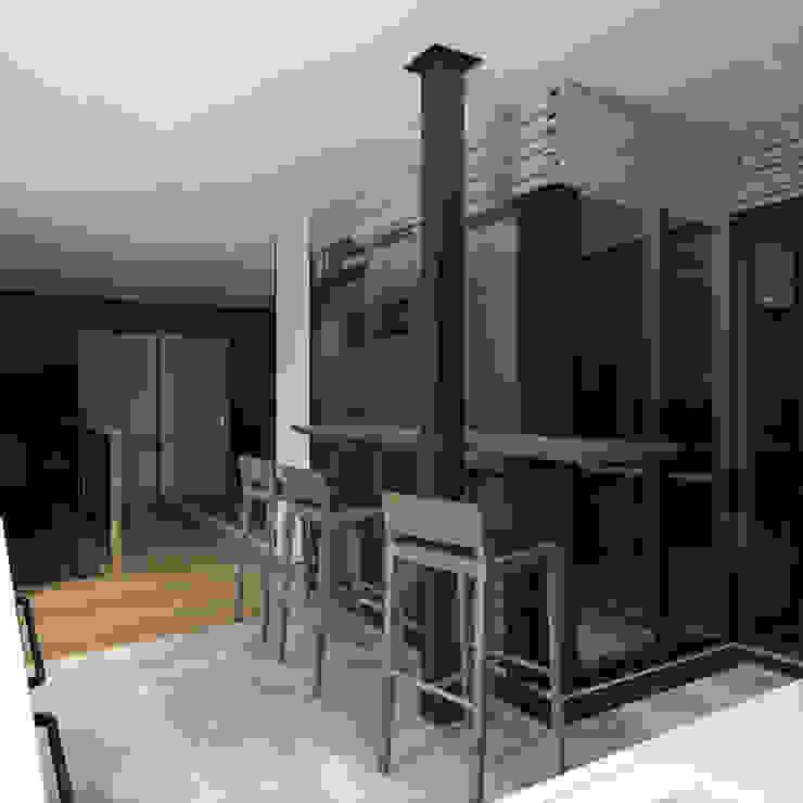 Phòng khách phong cách tối giản bởi CHM architect Tối giản