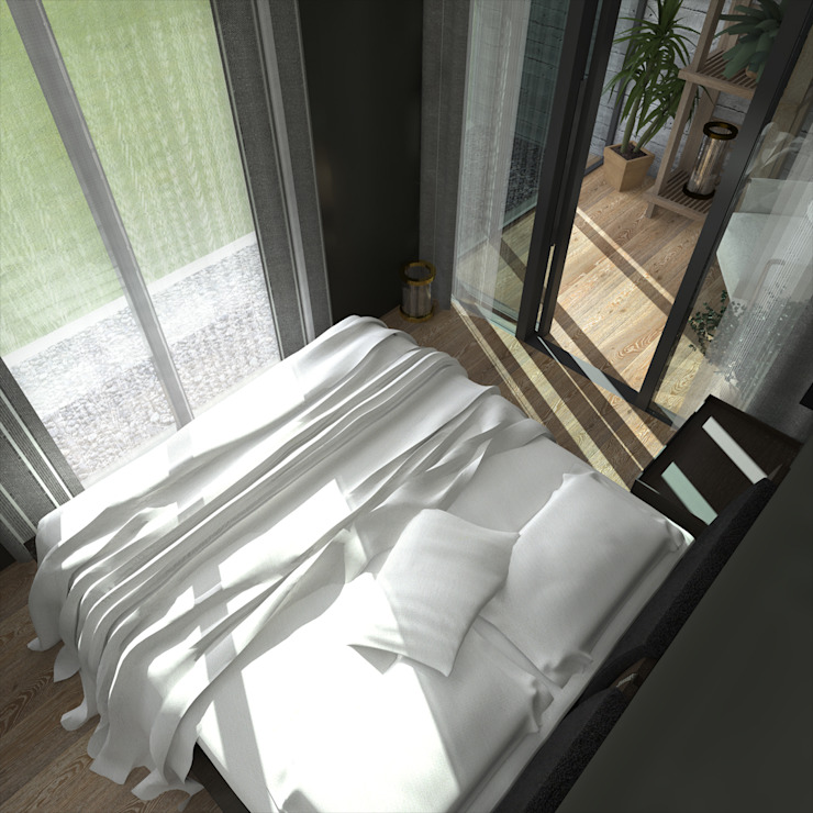 Phòng ngủ phong cách tối giản bởi CHM architect Tối giản