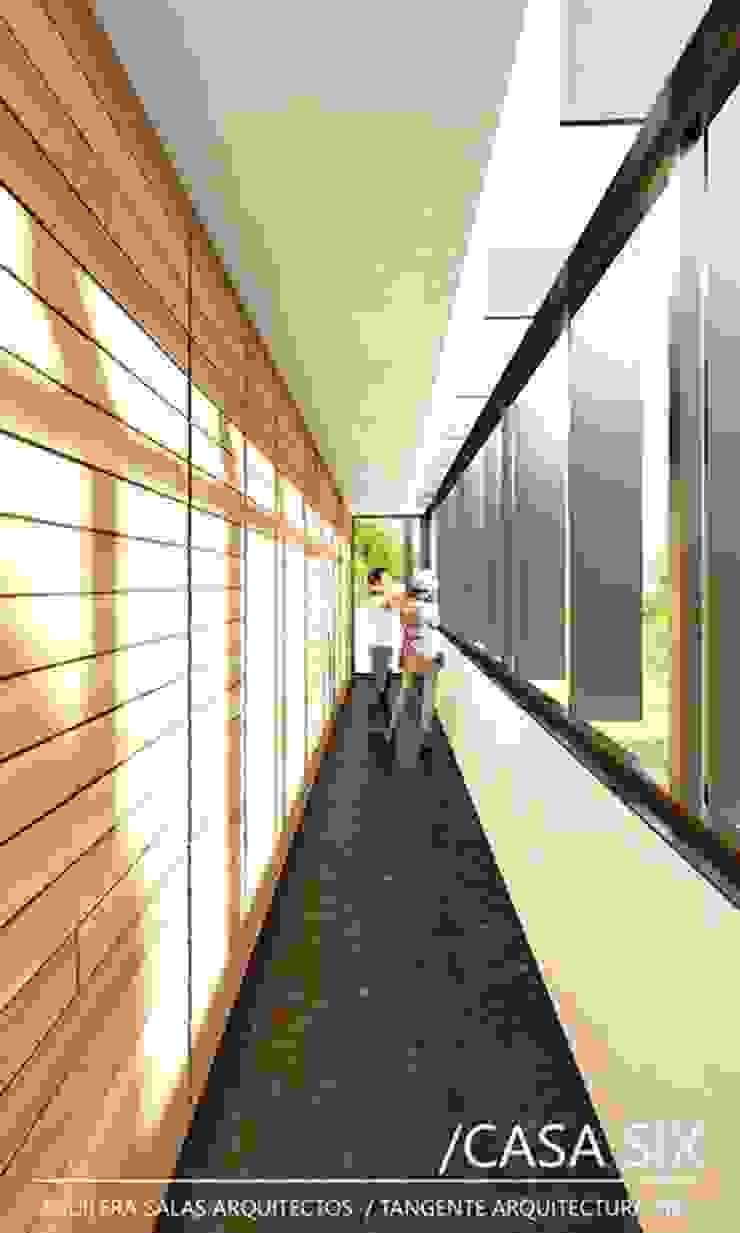 CASA SIX /AGUILERA SALAS ARQUITECTOS / TANGENTE ARQUITECTURA MX Pasillos, vestíbulos y escaleras modernos de AGUILERA SALAS ARQUITECTOS Moderno