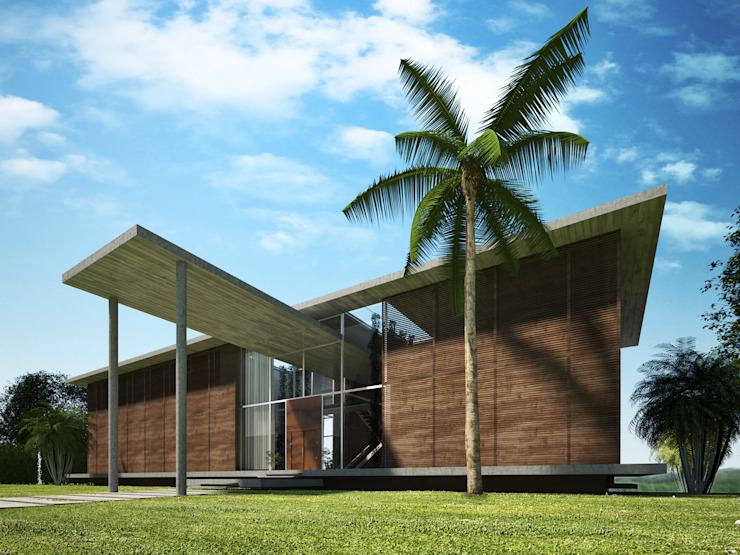 Key Biscayne by Fernandez Architecture Tropical Concrete