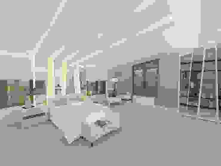 Batı Villaları, Arı Villası İç Mimar ve Çevre Tasarımcısı Minimalist Yatak Odası