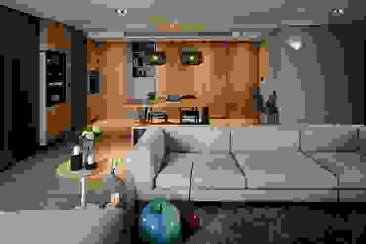 家的溫度 豁然 现代客厅設計點子、靈感 & 圖片 根據 晨室空間設計有限公司 現代風